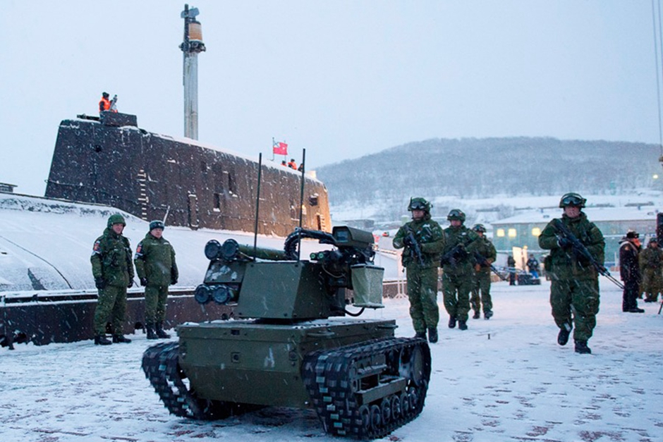 俄军动用战斗机器人保卫潜艇基地[1]- 中国日报网