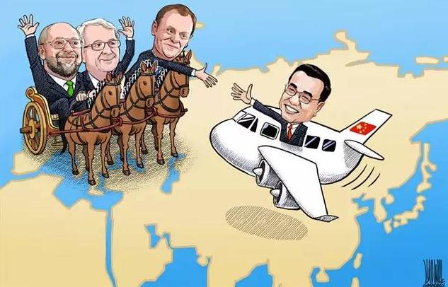 六张漫画带你回顾总理访欧亮点[1]- 中国日报网
