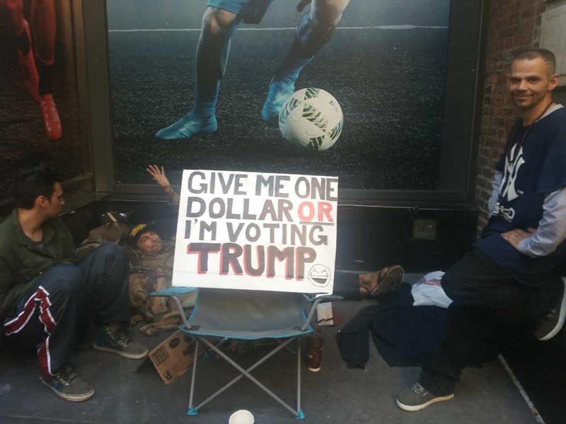 给我一美元,否则我就投票给特朗普[1]- 中国日报网