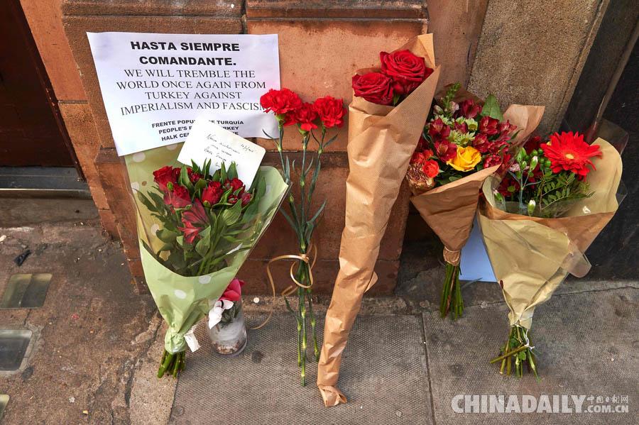英国伦敦民众悼念古巴革命领袖菲德尔·卡斯特罗逝世[1]- 中国日报网