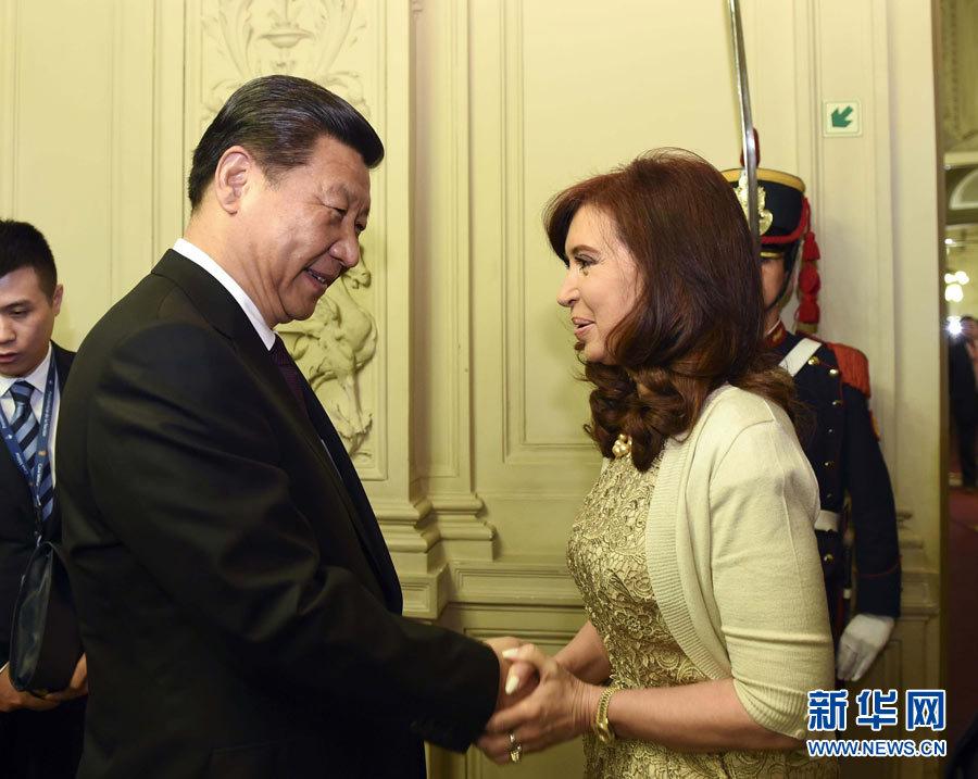 xi主席出国保镖视频_习近平同阿根廷总统克里斯蒂娜举行会谈[1]- 中国日报网