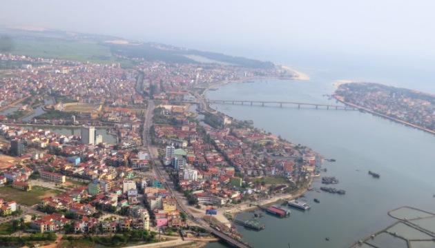 组图:越南广平省直升飞机旅游业务开张
