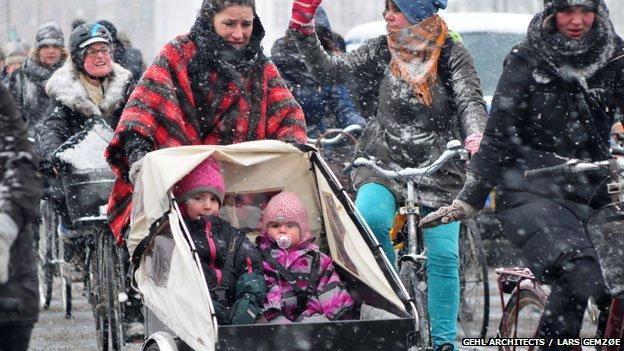 混乱:哥本哈根扎堆的自行车