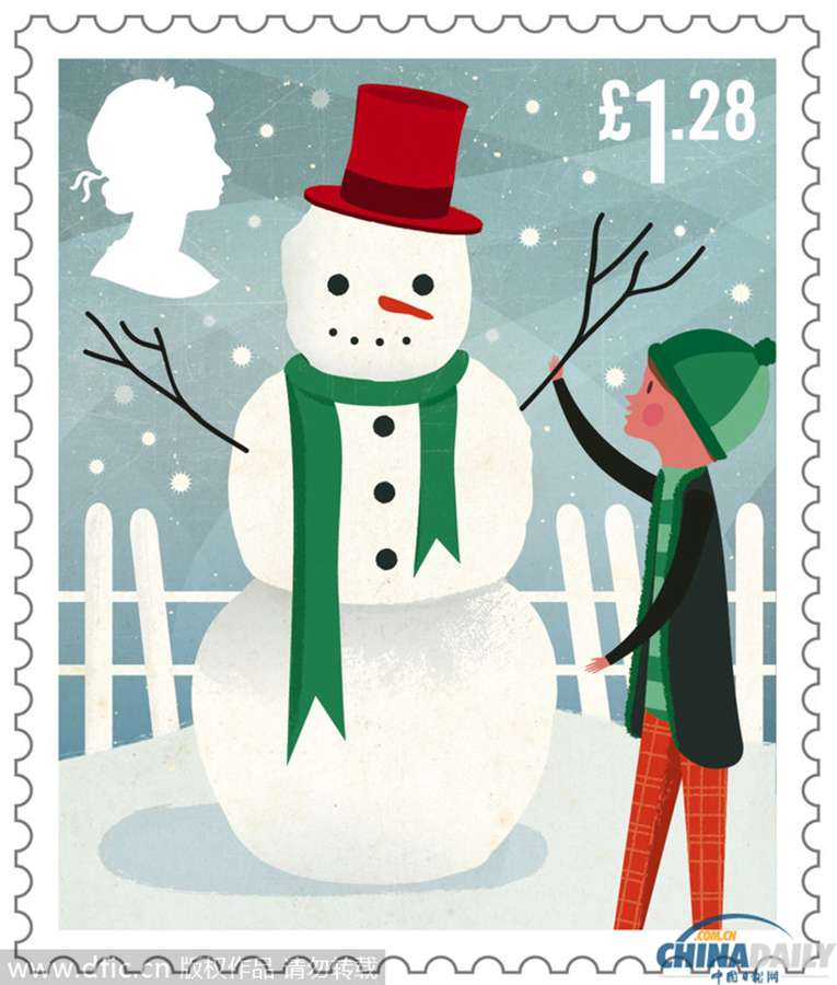 寄圣诞卡明信片