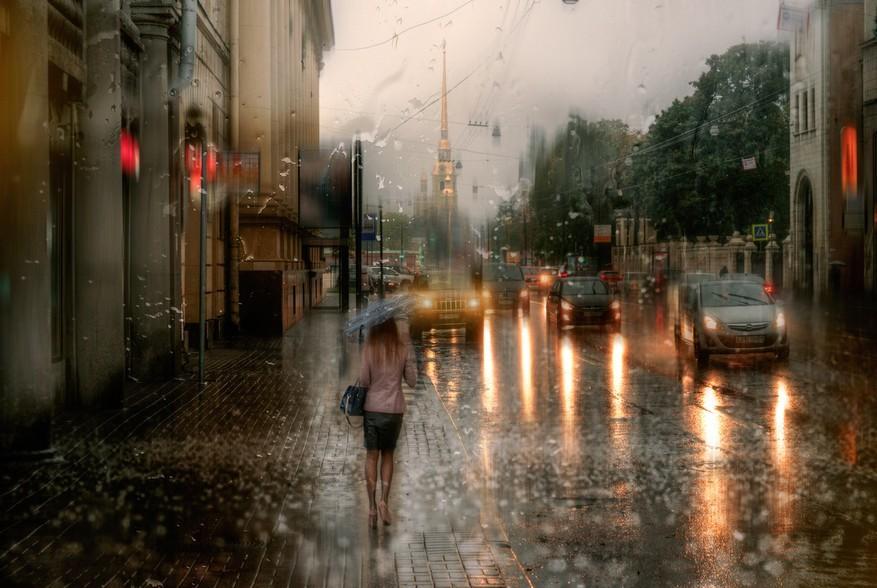 14岁女孩图片网_绘画,还是摄影?迷幻斑斓的雨中摄影[6]- 中国日报网
