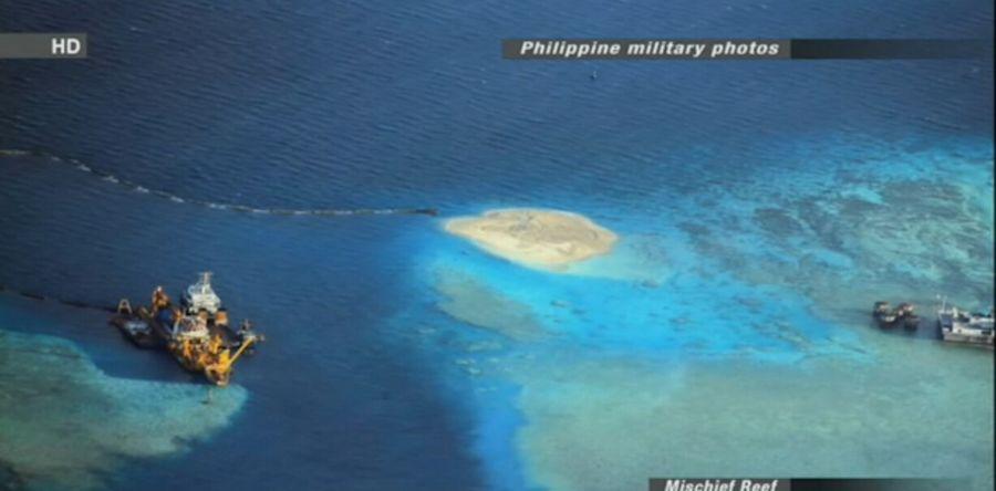 日媒播出中国南海填海扩建近距画面 称工程加速