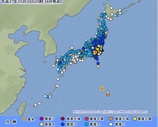 日本小笠原群岛海域发生8.5级地震