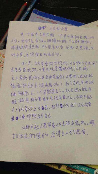 写让人感动的作文_高考临近 看看外国人把中国高考作文写成啥样 - 中文国际 - 中国 ...