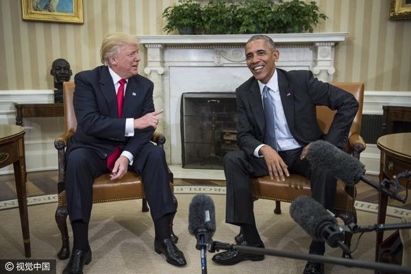特朗普顾问:特朗普和奥巴马定期商讨国家大事