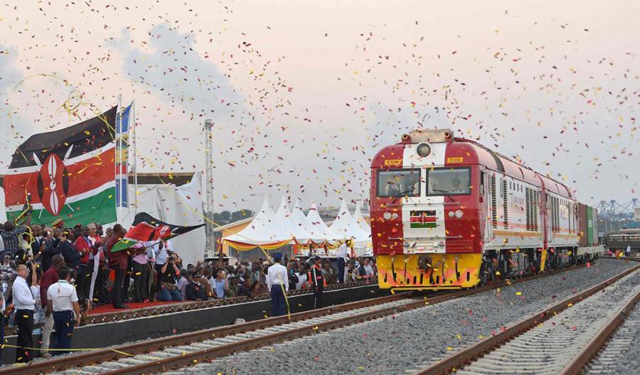 中国承建肯尼亚蒙内铁路5月31日正式通车