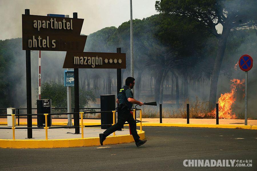 西班牙南部大火致1500多人撤离 不排除人为因素