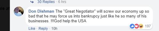 """特朗普挑起对华""""贸易战"""" 美国网友:愚蠢行为 会害苦我们"""